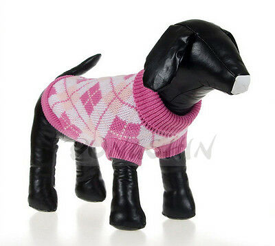 pet sweater warm knitted crochet clothes for dog chihuahua dachshunds pitbull