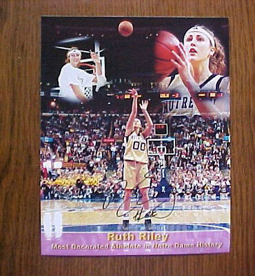 NOTRE DAME NATIONAL CHAMPS AUTO , RUTH RILEY MOST DECORATED ND ATHLETE
