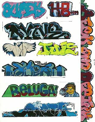G Scale Graffiti Decals G12 From Real Graffiti Photos