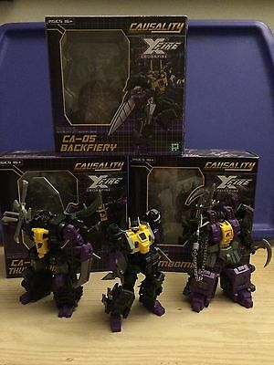 Transformers Fansproject Ca-03 Ca-04 Ca-05 Insecticons Causality Crossfire