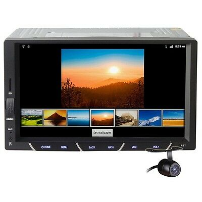 2Din 7'' Android 4.2 Capative Car Tablet PC Stereo Radio Player iPod WIFI+Camera