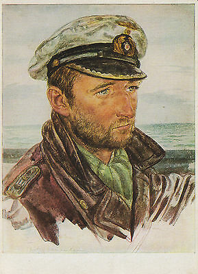 GERMAN WW2 MILITARY POSTCARD-UBoat Captain-Reproduction