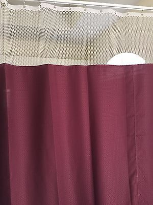 Curtain Wine 96Wx93 HOSPITAL CLINIC LAB Antibacterial Antimicrobial medical