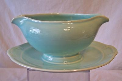 Taylor, Smith & Taylor LURAY PASTELS Surf Green Gravy Boat & Underplate