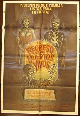 SET OF 3 ARGENTINEAN HORROR MOVIE POSTERS -RETURN OF THE LIVING DEAD- SCARY ART!