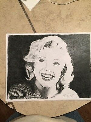 Marilyn Monroe Fan Art Charcoal Drawing