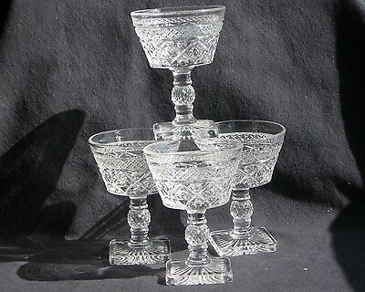 4 Vintage Imperial Cape Cod #1602 6 oz. Tall Sherbets or Champagnes Excel Condit