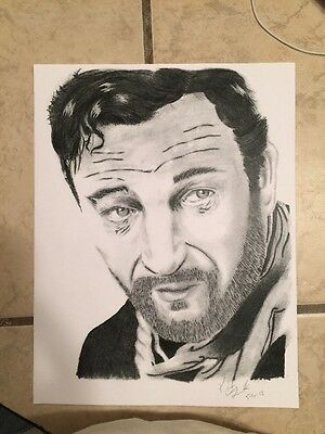 "John Wayne Pencil Drawing 2 /""The Duke/"" Art Print Signed by Artist DJR"