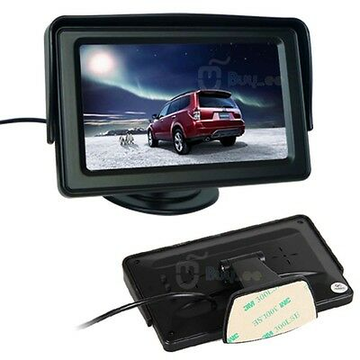 """4.3"""" TFT LCD Car Reverse RearView Color Security Monitor DVD VCR,For Car Camera"""