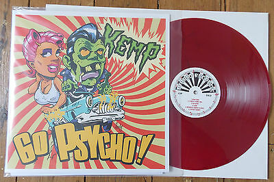KEMP - Go Psycho! COLOURED VINYL LP (NEW) PSYCHOBILLY / ROCKABILLY