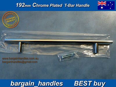 DOOR HANDLES Kitchen Cabinet Bathroom 12x 192mm POLISHED Chrome Plated SOLID