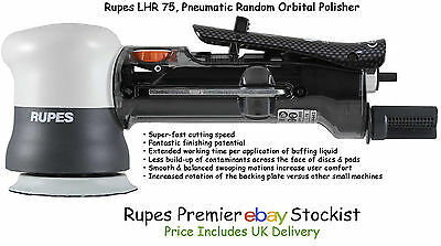 Rupes LHR 75 Pneumatic Mini Random Orbital Polisher Machine Bigfoot