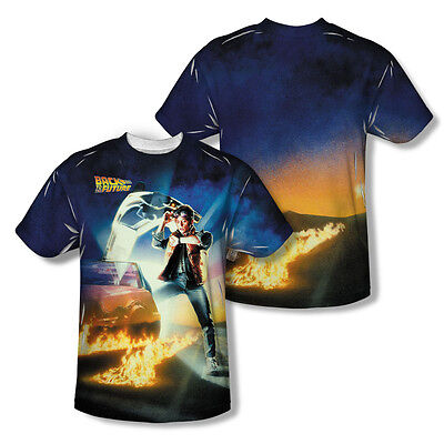 Back To The Future Movie Poster Adult All Over Print T-Shirt