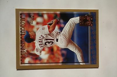 1998 topps minted in cooperstown #306 John Franco & David Justice Error card