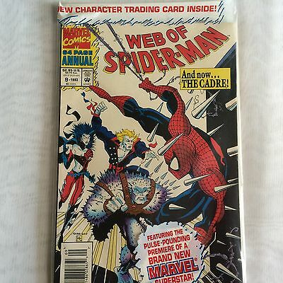 MINT Web of Spider-Man Annual #9 (1993, Marvel), still in poly bag.