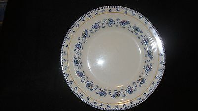 "Dessert Plate 8 1/2"" By Woods & Sons - Sunnybrook Pattern - White with Blue"