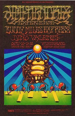 BG140 BUDDY MILES & JIMI HENDRIX CONCERT POSTER by GRIFFIN & MOSCOSO