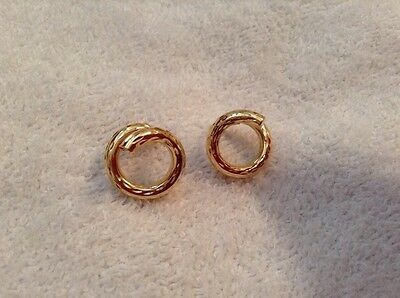Women's Solid 14Kt Highly Diamond Cut Yellow Gold Earrings