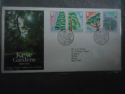 great britain first day cover 1990 kew gardens . bureau