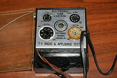VINTAGE WORKING TUBE CHECKER / FILAMENT TESTER FOR 7/9 PIN OCTAL/LOCTAL