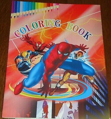 Spider-Man 16 Page Coloring Book + 2 Pages Of Stickers (Brand New)