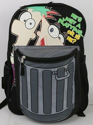 "New Phineas & Ferb 16"" Large Backpack - Get This Party Started  Boys School Bag"