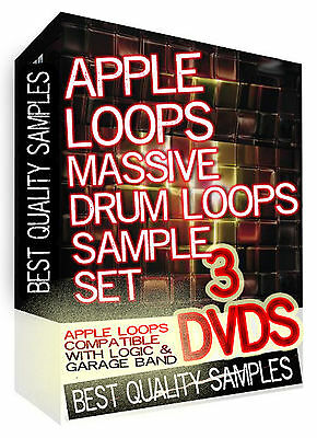 20 Thousand Apple Loops  For Logic 8,9, Pro-X & Garage Band!