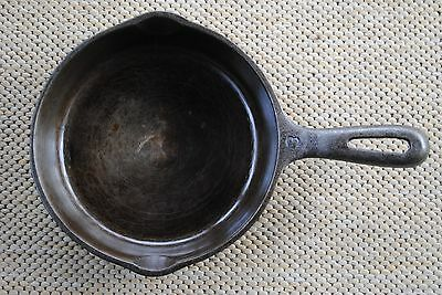 """Vintage WAGNER WARE 6 1/2"""" H #3 Cast Iron Skillet - Sits Flat - Excellent Cond."""