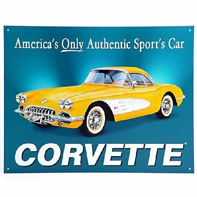 1958 Chevy Corvette America's Car Vintage Style Retro Metal Sign 16x13 New