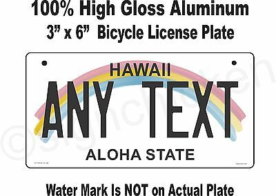 Hawaii State License Plate, Custom, Personalized, replica, BICYCLE, tag, Hawaian