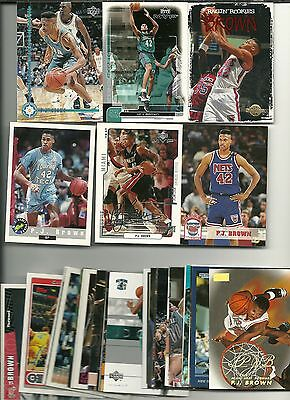P.J. Brown 35 Card Lot All Different Miami Heat New Orleans New Jeresy Chicago