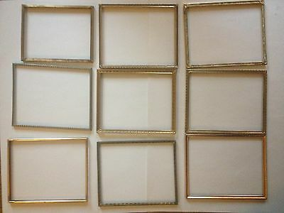 Wholesale Lot of 9 Antique Vintage filigree Brass Metal 8 X 10 Picture Frames