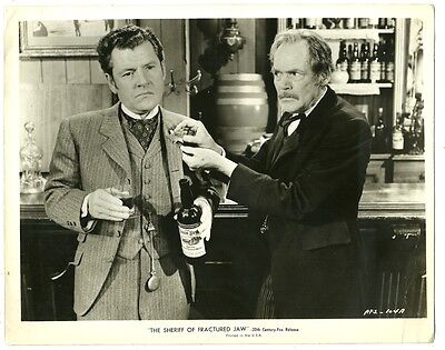 KENNETH MORE HENRY HULL ORIGINAL PHOTO THE SHERIFF OF FRACTURED JAW 1958