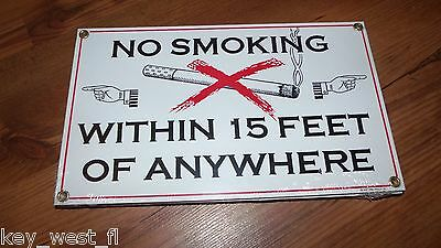 Vintage Porcelain Advertising Sign ~NO SMOKING ANYWHERE! {Ande Rooney} ~ by PLD