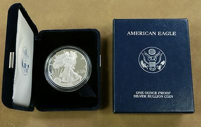 2001-W Silver American Eagle Bullion Proof one ounce coin~US Mint w/ orig boxes