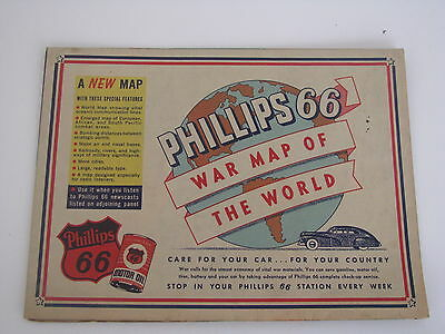 Phillips 66 War Map of the World, circa 1943