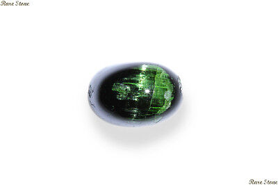 10.725 Cts UNIQUE RARE NATURAL HUNTER GREEN TOURMALINE CAT'S EYE UNHEATED CAB~!!