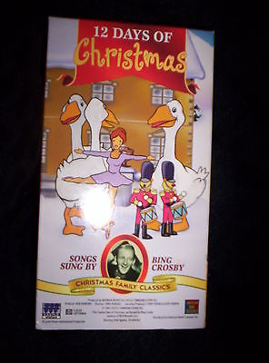 12 Days of Christmas / Good King Wenceslas (VHS) - SONGS BY BING CROSBY - NEW