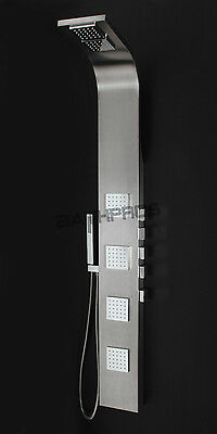 "61""New Stainless Steel Shower Panel 8816 Rainfall Bath Tower Spray Spa Jet"
