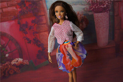 2015 GORGEOUS Handmade The original clothes dress for barbies doll c289