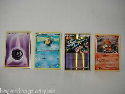 Lot of 4 Pokemon Card Tympole Chimchar Energy Trainer Super Scoop Up Cards