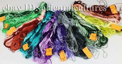 Chinese 100%real natural silk,hand-dyed embroidery floss/thread 77colors/skeins