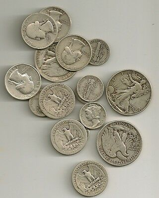*90% Silver USA Coins $1 face value 90 % Dimes or Quarters or Half Dollars Hot