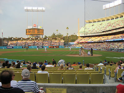 DODGERS-GIANTS 4/29-2 FLD VIP SEC 11, 5th Row w/PREF PRK G, Dodger Fleece Blankt