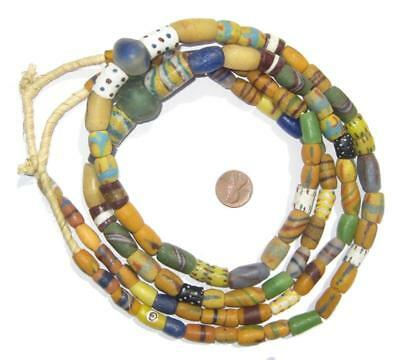 Extra Fancy Sandcast Powder Glass Bead Medley Ghana African Multicolor Mixed