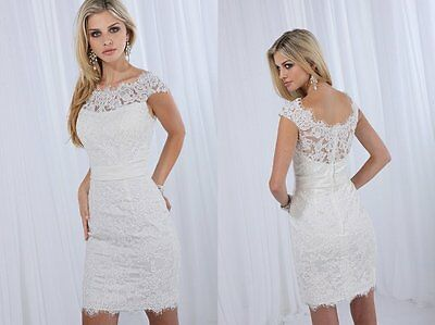 2015 New Sexy Short Lace Evening Party Wedding Bridesmaid Prom Gowns Custom