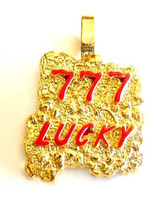 New 777 Lucky Gold Plated Nugget Pendant Charm For Necklace Chain Free Shipping