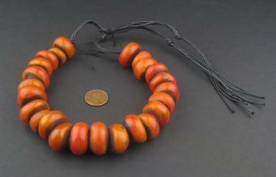 African Moroccan Amber Resin Beads - Petite (Cherry) Morocco