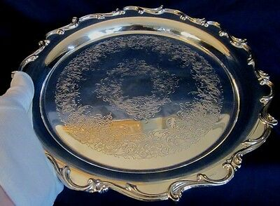 Tray Silver Plate Webster Wilcox 10.75 Inch