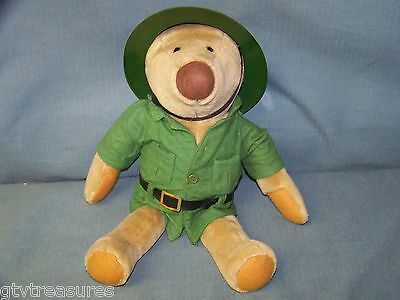 "Vintage 1983 Avon Gallery Originals 15"" Kerby Bear Stuffed Plush Ranger Clothes"